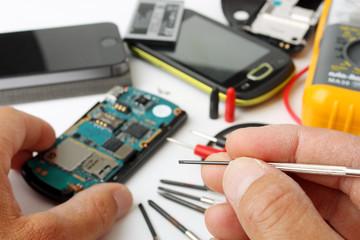 Telefono cellulare da riparare