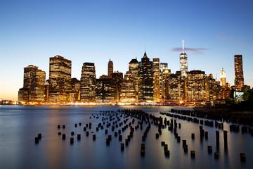 New York City Manhattan Downtown at dusk