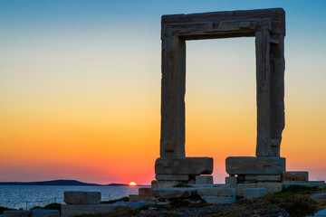 Le temple d'apollon à Naxos