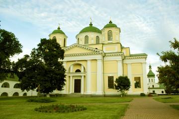 Architecture of a monastery in Novgorod-Severskiy