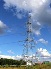 Mast electrical power line