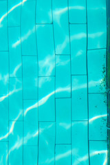 Ripples on water surface in swimming pool