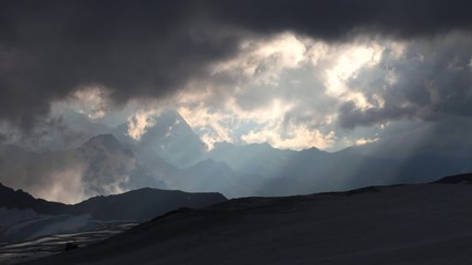 The weather is changing. Mt. Elbrus