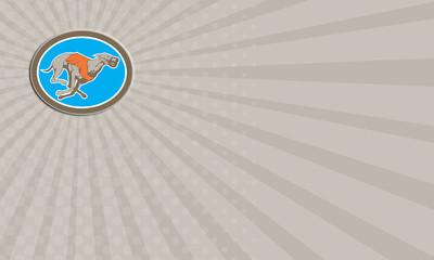 Business card Greyhound Dog Racing Circle Retro