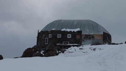 "The shelter ""11"" on Mt. Elbrus"
