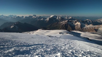 panoramic view on major caucasus ridge