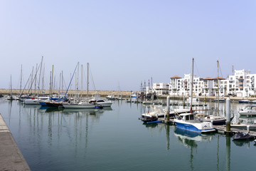 View of the luxurious Marina district in Agadir, Morocco.