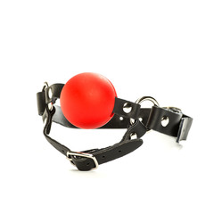 Ball gag for fetish and bondage games