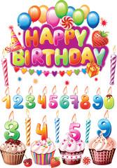 Birthday cake number