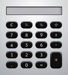 Vector concept modern calculator background.