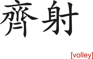 Chinese Sign for volley