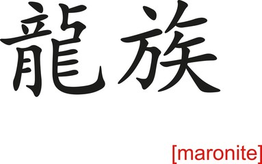 Chinese Sign for maronite