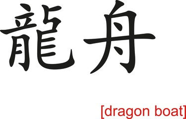 Chinese Sign for dragon boat