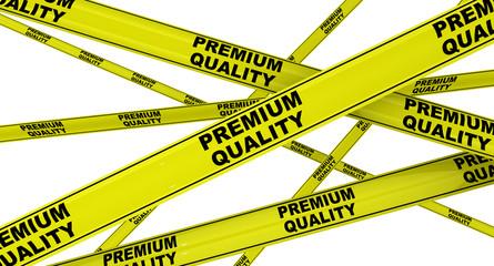 Высокое качество (premium quality). Жёлтая оградительная лента