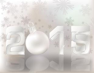 Happy 2015 new year postcard, vector illustration