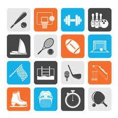 Silhouette Sport objects icons
