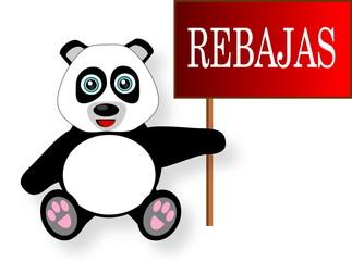 Oso panda rebajas