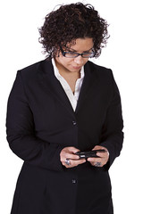 Hispanic Businesswoman Texting