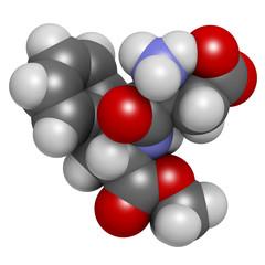 Aspartame artificial sweetener molecule.