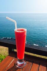 Strawberry smoothie soda
