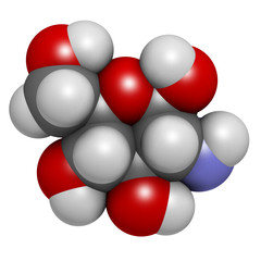 Glucosamine dietary supplement molecule.