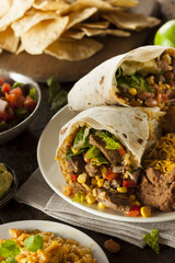 Homemade Giant Beef Burrito