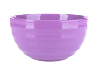 Purple bowl isolated on white