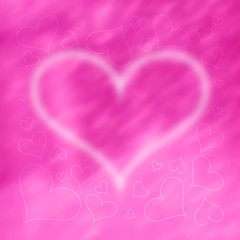 Blurred Valentine's Day Hearts Background 5