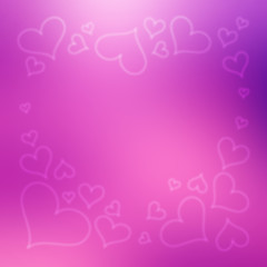 Blurred Valentine's Day Hearts Background 8