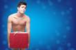 funny naked christmass man
