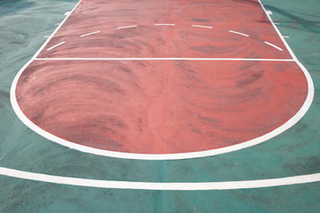 one side od a basketball stadium