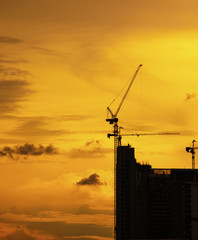 building construction silhouette