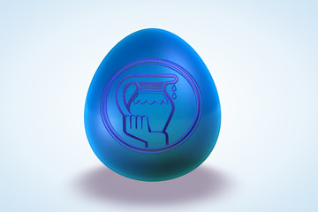 Aquarius Zodiac Sign Egg