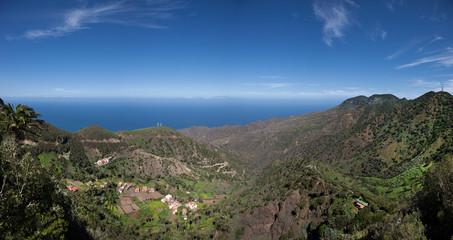 La Gomera - Panoramablick in das Tal von Epina
