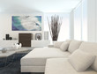 Modern Living Room with White Furniture