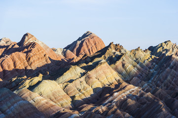 ZHANGYE, CHINA Danxia landform in Zhangye, China.