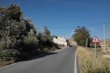 Petite route dans la campagne