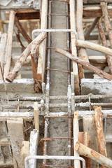 construction house, reinforcement wooden framework for concrete