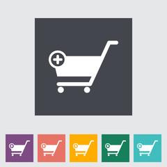 Cart flat single icon.