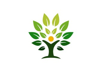 tree, logo, wellness, green, life, people, health, nature