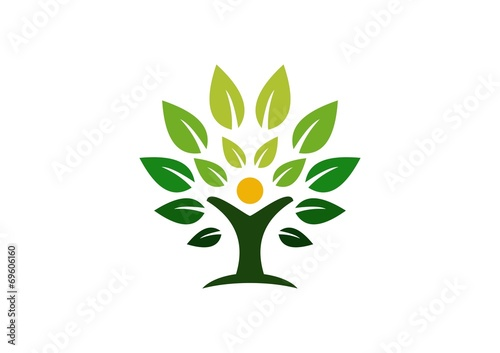 tree, logo, wellness, green, life, people, health, nature - 69606160