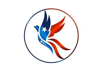 bird,logo,phoenix,flying,hawk,eagle,wings,USA flag, globe
