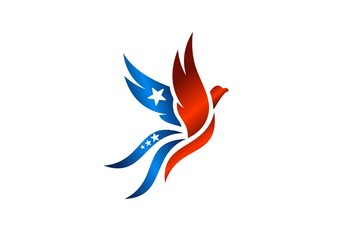 bird,logo,phoenix,flying,hawk,eagle,wings,USA flag
