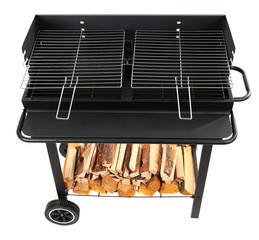 Barbecue grill isolated on white