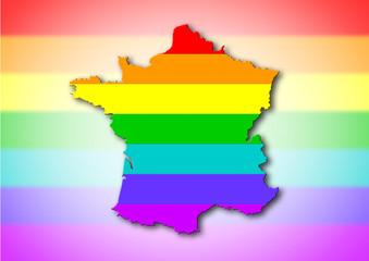 France - Rainbow flag pattern
