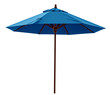 Leinwandbild Motiv Blue beach umbrella