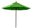 Green beach umbrella