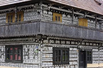 timbered house in Cicmany, Slovakia