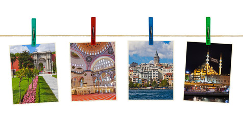 Istanbul Turkey photography on clothespins
