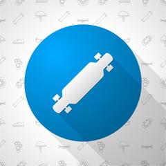 Flat circle icon for longboard